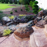 Backyard rock stream Roseville CA